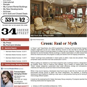 Issue 33, November 2011: Green: Real or Myth