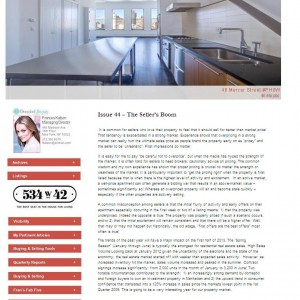 Issue 44 – The Seller's Boom