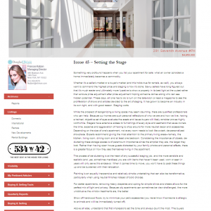 Issue 45 – Setting the Stage