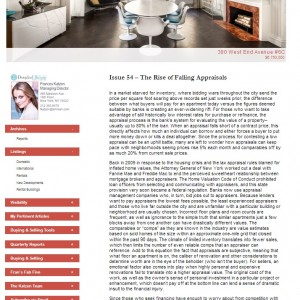 Issue 54 – The Rise of Falling Appraisals