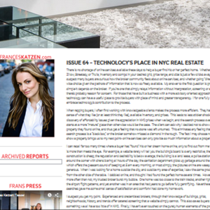 Issue 64 – Technology's Place in NYC Real Estate