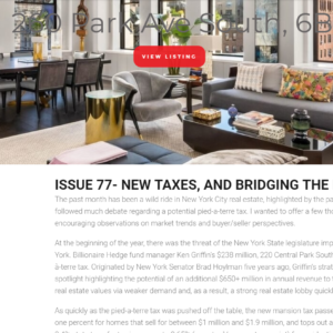 Issue 77- New taxes, and bridging the psychological divide